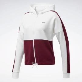 Dámská mikina REEBOK Training Essentials Logo - White / Maroon