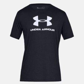 Pánské triko Under Armour SPORTSTYLE LOGO SS - černé