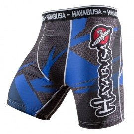 Hayabusa Metaru 47 Silver Compression Shorts Blue