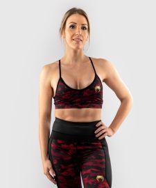 Sportovní podprsenka VENUM Defender bras - černo/červená