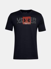 Pánské triko Under Armour UA BOX LOGO WORDMARK SS - černé