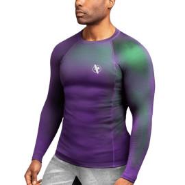 Rashguard HAYABUSA Fusion dl. rukáv - fialovo/zelený