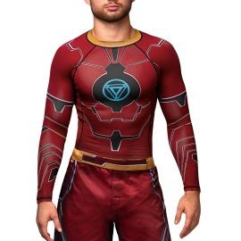 Rashguard HAYABUSA MARVEL Iron Man - červený