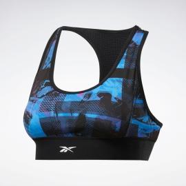 REEBOK Dámská sportovní podprsenka MYT Low-Impact Printed Bra - black