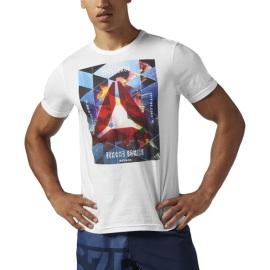 Pánské tričko Reebok Exploding Delta - bílé