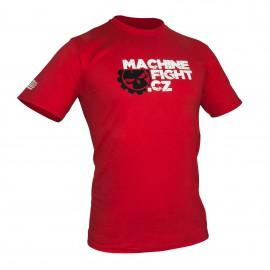 Tričko Machine FIGHT - červené