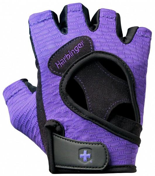 Dámské tréninkové fitness rukavice - fialové