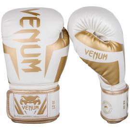 Boxerské rukavice VENUM ELITE - bílo/zlaté