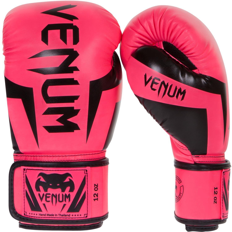 Boxerské rukavice VENUM ELITE - Neonově růžové