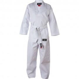 Dětské Kimono Plain V-Neck - bílé