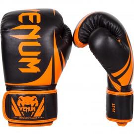 Boxerské rukavice VENUM CHALLENGER 2.0. - Neo černo/oranžové