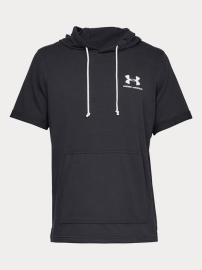 Pánské Tričko Under Armour Sportstyle Terry Ss Hoody - černé