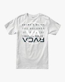 Pánské triko RVCA Brand Over Balance WHT