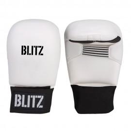 Karate rukavice BLITZ Elite bez palce - bílé