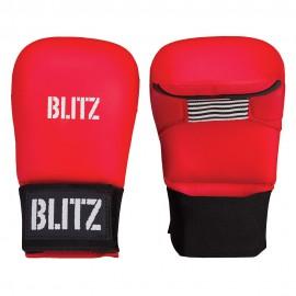 Karate rukavice BLITZ Elite bez palce - červené