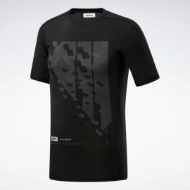 REEBOK Pánské kompresní tričko TS SS Comp - černé