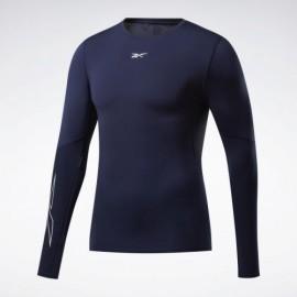 REEBOK Kompresní triko Fitness Compression Tee LS - modrý
