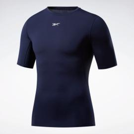 REEBOK Kompresní triko Fitness Compression Tee SS - modrý