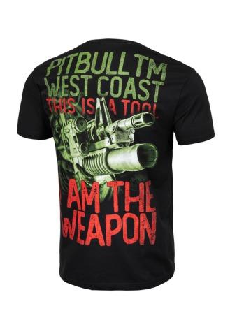 PitBull West Coast Triko I Am The Weapon - černé