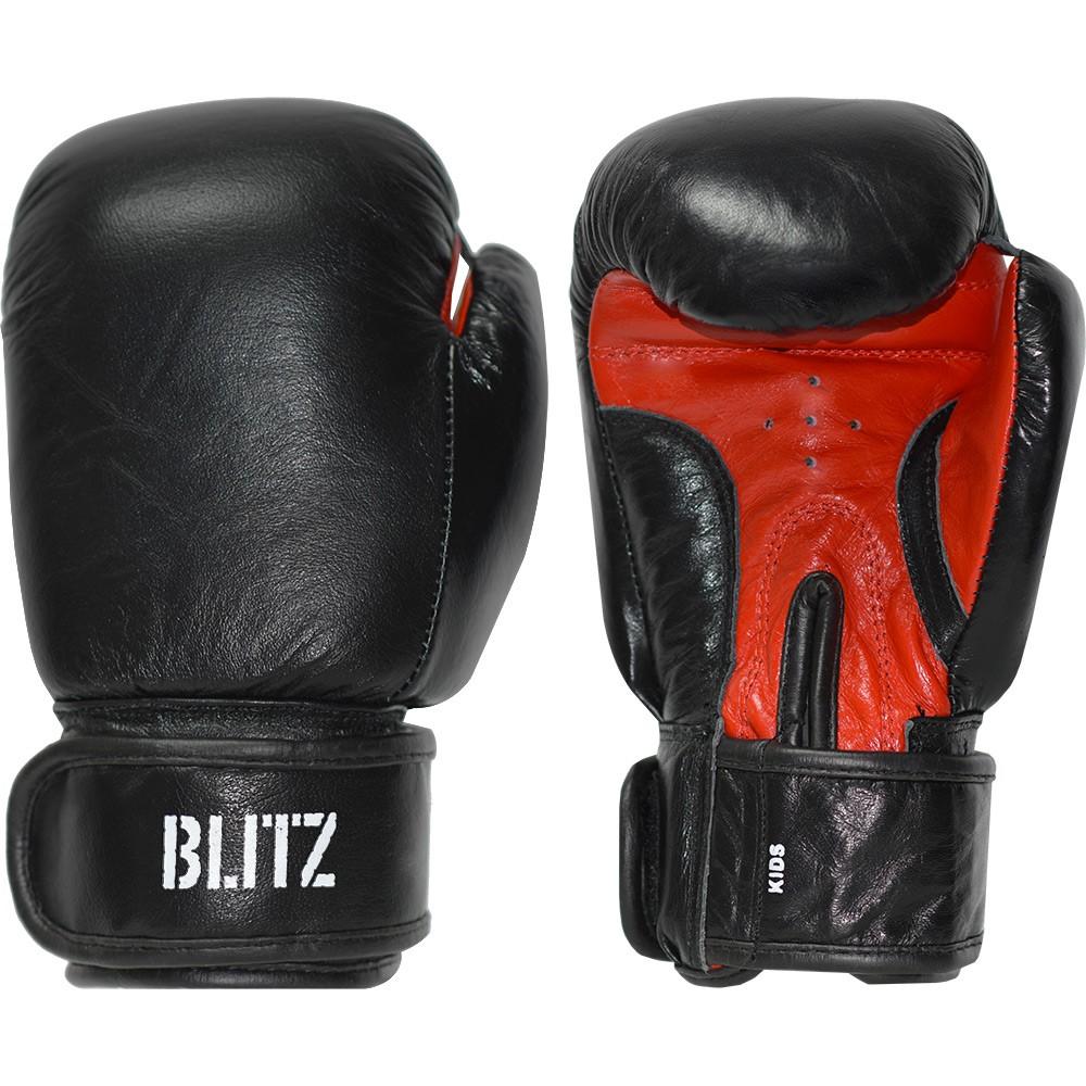 Dětské Boxerské rukavice BLITZ kůže 6oz - černé