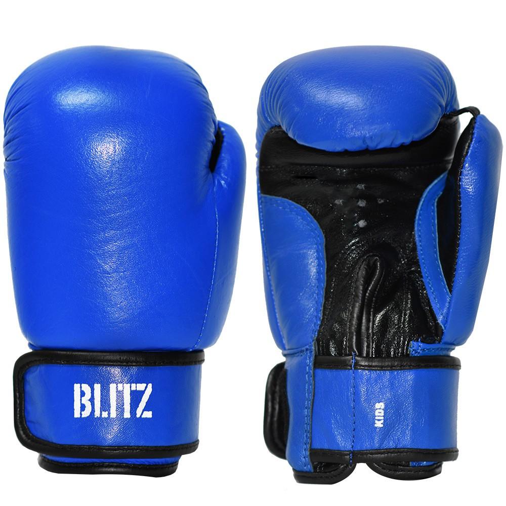 Dětské Boxerské rukavice BLITZ kůže 6oz - modré