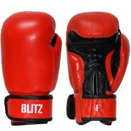 Dětské Boxerské rukavice BLITZ kůže 6oz - červené