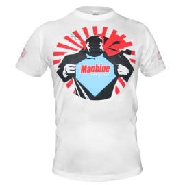 Triko Machine Super hero - bílé