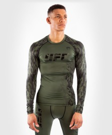 Rashguard VENUM UFC Authentic Fight Week Dl. rukávem - Khaki