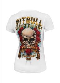 PitBull West Coast Dámské triko Santa Muerte - bílé