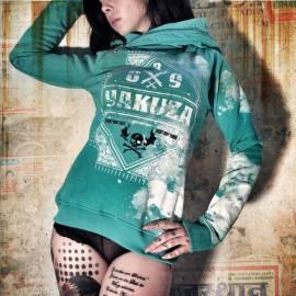 Yakuza dámska mikina GHOB 623 - tyrkysová