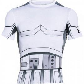 Pánské Kompresní Tričko Under Armour Star Wars Trooper - Bílé