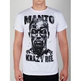 Tričko MANTO KRAZY BEE - Bílé