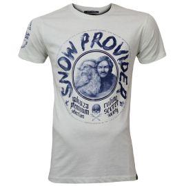 Yakuza Premium Pánské tričko YPS 2919 - krémově bílé