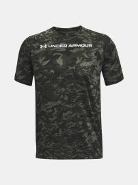 Pánské triko Under Armour TECH ABC CAMO SS - zelené