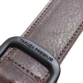 Yakuza Premium Kožený opasek 2970 - 110 cm - tmavě hnědý