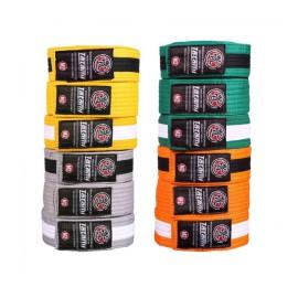 TATAMI Dětské pásky IBJJF - oranžovobílý