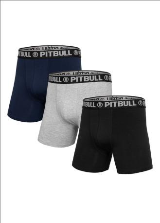 Boxerské Trenýrky Pitbull West Coast - šedé/černé/modré
