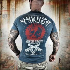 Pánské tričko YAKUZA HIGHEST QUALITY  - modré