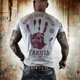 Pánské tričko YAKUZA Black Hand  - šedé