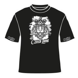 Pánské triko Machine Czech Lion - černé