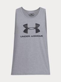 Under Armour Pánské tílko Sportstyle Logo - šedé