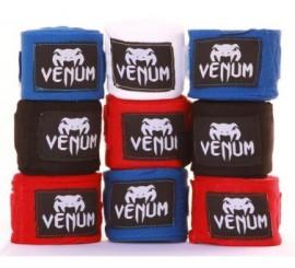 Boxerské bandáže značky VENUM - 2,5 m - Černé