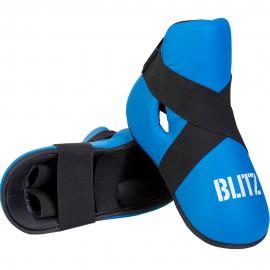Taekwondo Chránič nártů BLITZ  PU  - modré