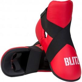 Taekwondo Chránič nártů BLITZ  PU  - červené