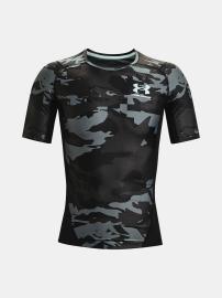 Pánské kompresní triko UNDER ARMOUR UA HG Isochill Comp Print SS - černé