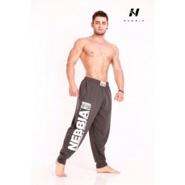 Fitness tepláky Nebbia 910 - tmavě šedá