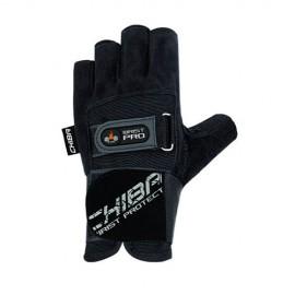 Fitness rukavice CHIBA Wristguard PROTECT - černé