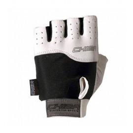 Fitness rukavice CHIBA POWER - černo/bílé