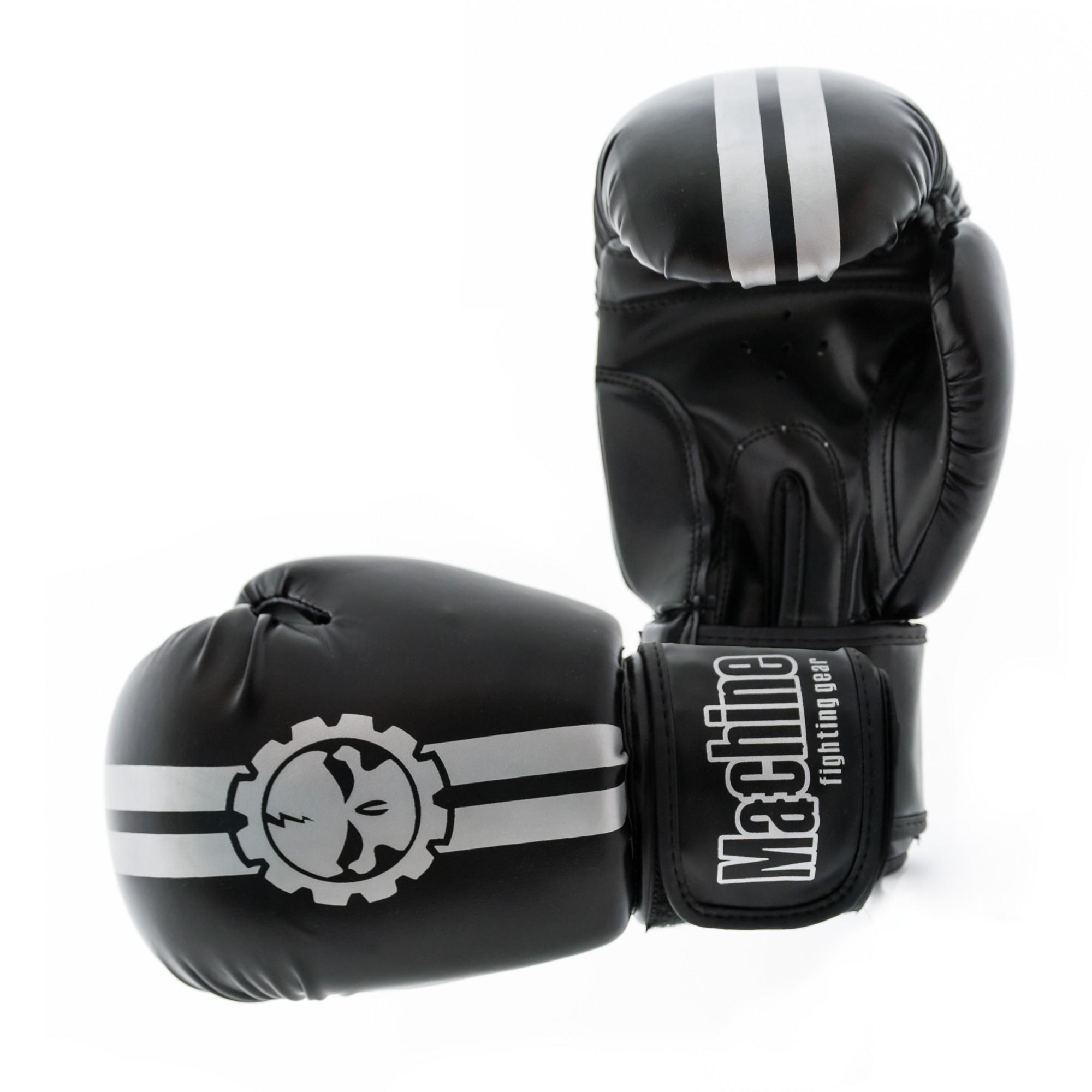 Boxerské rukavice Machine Fast - stříbrné