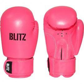 Dětské Boxerské rukavice BLITZ PU  - neonově růžové